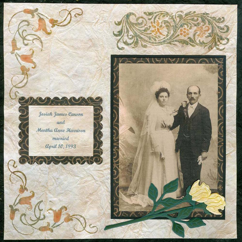 Vintage Wedding Scrapbook Layout