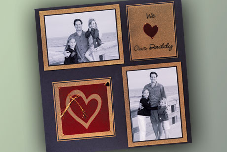 We Love Dad Scrapbook Layout