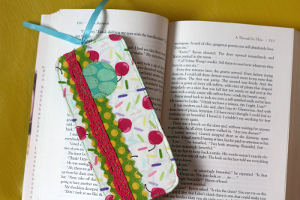 Scrappy Fabric Bookmark