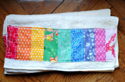 Scrappy Rainbow Bath Towel