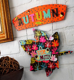 Autumn Decoupage Sign