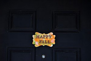 Festive Fall Greetings Sign