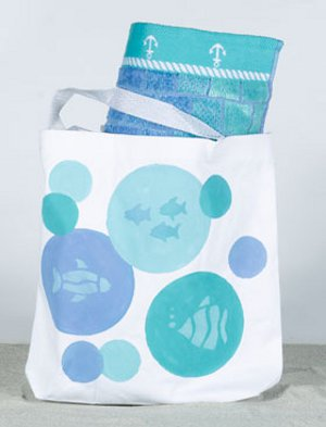 Kids Aquamarine Beach Tote