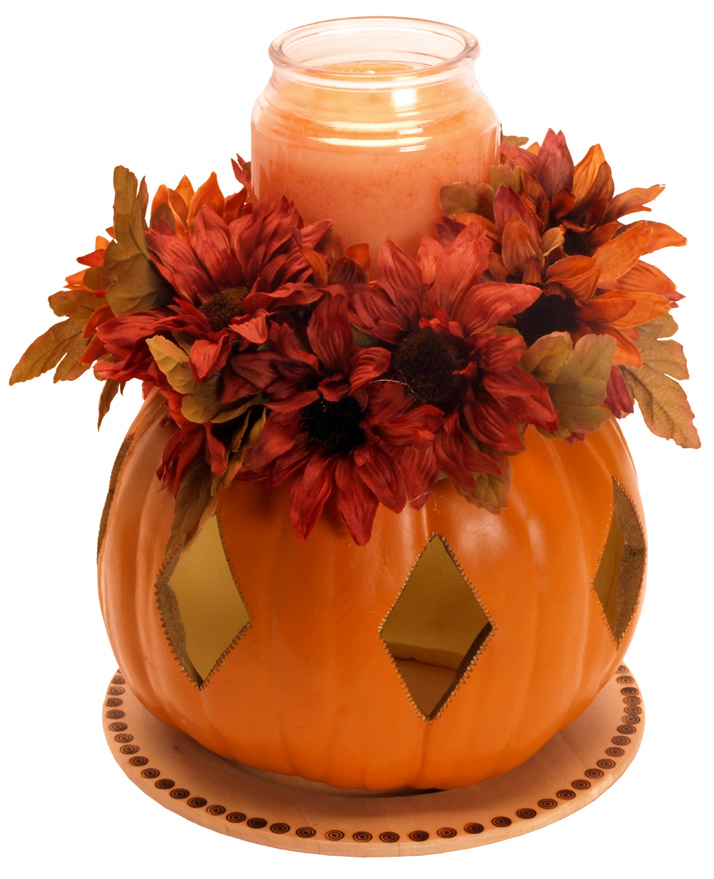 pumpkin and candle centerpiece - Decorative Crafts