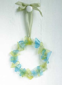 Easy Sea Glass Wreath
