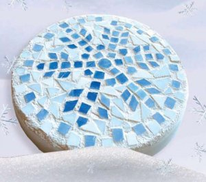 Snowflake Mosaic Stepping Stone Favecrafts Com