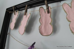 country bunny garland