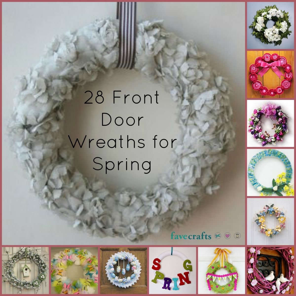 Front Door Wreaths for Spring
