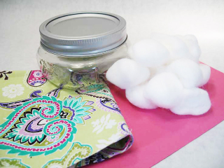 Canning Jar Pin Cushion Materials