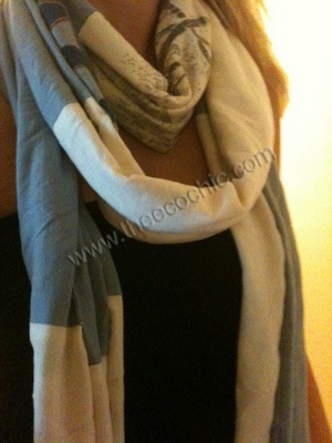 Colorblocked T-Shirt Scarf