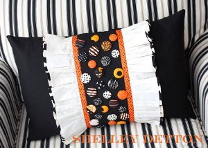 Decorative Ruffles n' Buttons Pillow