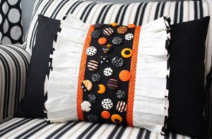 Decorative Ruffles n Buttons Pillow