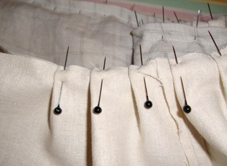 Pinning Pleats