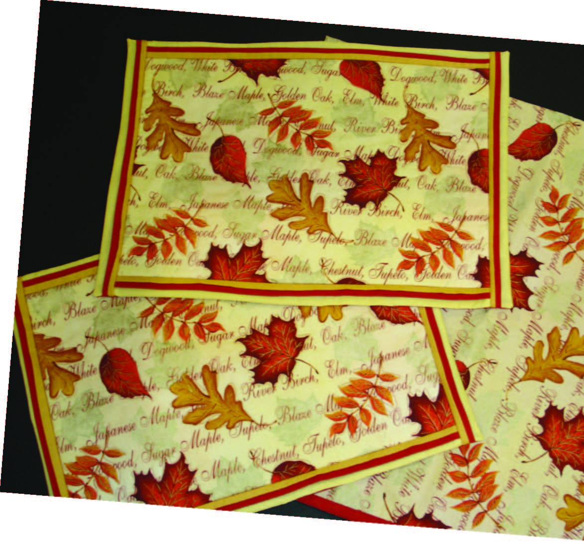 placemats craft ideas falling leaves placemats sewing pattern from springs 2707