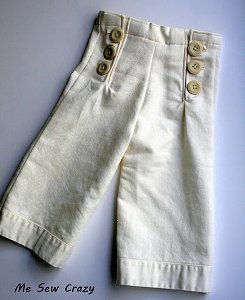 Girls' Sailor Trousers
