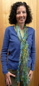 Green Modeled Fiber Scarf