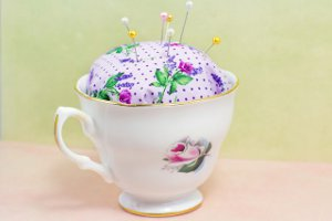 No Sew Teacup Pin Cushion