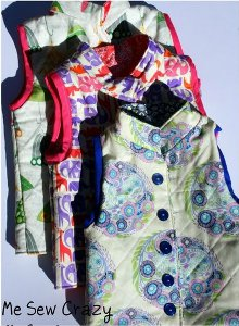 Patterned Ski Vest for Kids