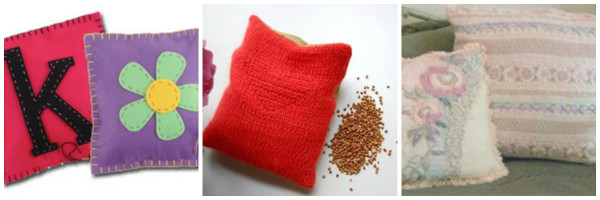 Heating Pillow with Buckwheat (pg. 13) - Sew up an easy pillow filled with buckwheat to serve as a heating pad. Buckwheat holds the heat (or cold) better ... & Sewing for Beginners\