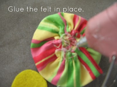 Ruffled Fabric Flower Pin step 15