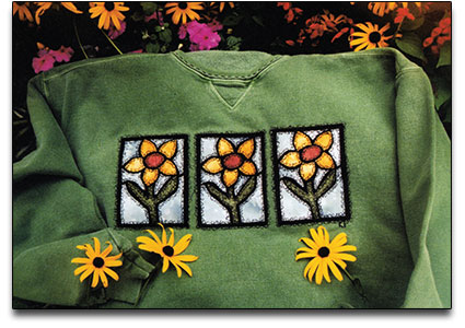Flower Applique Sweatshirt
