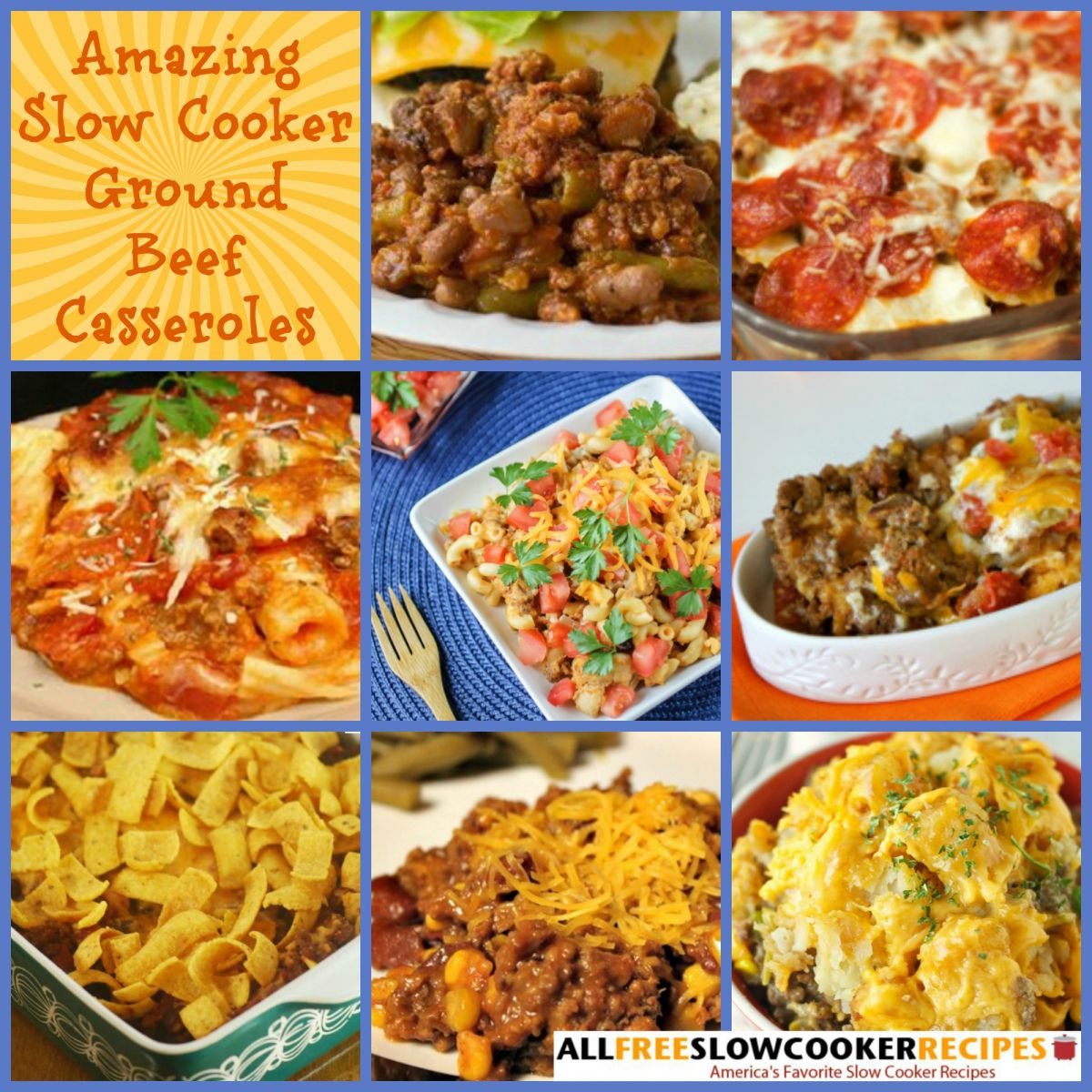 Slow Cooker Ground Beef Recipes: 6 Slow Cooker Ground Beef Casseroles