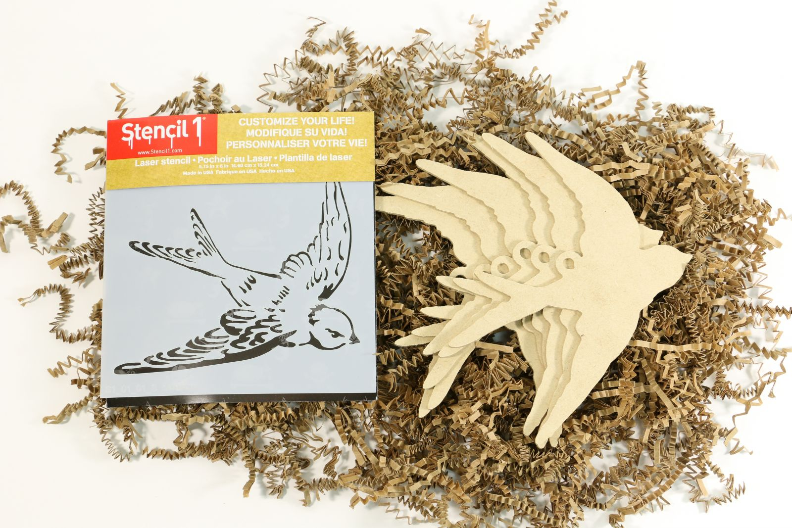 Stenciled Ornament Kit from Stencil1