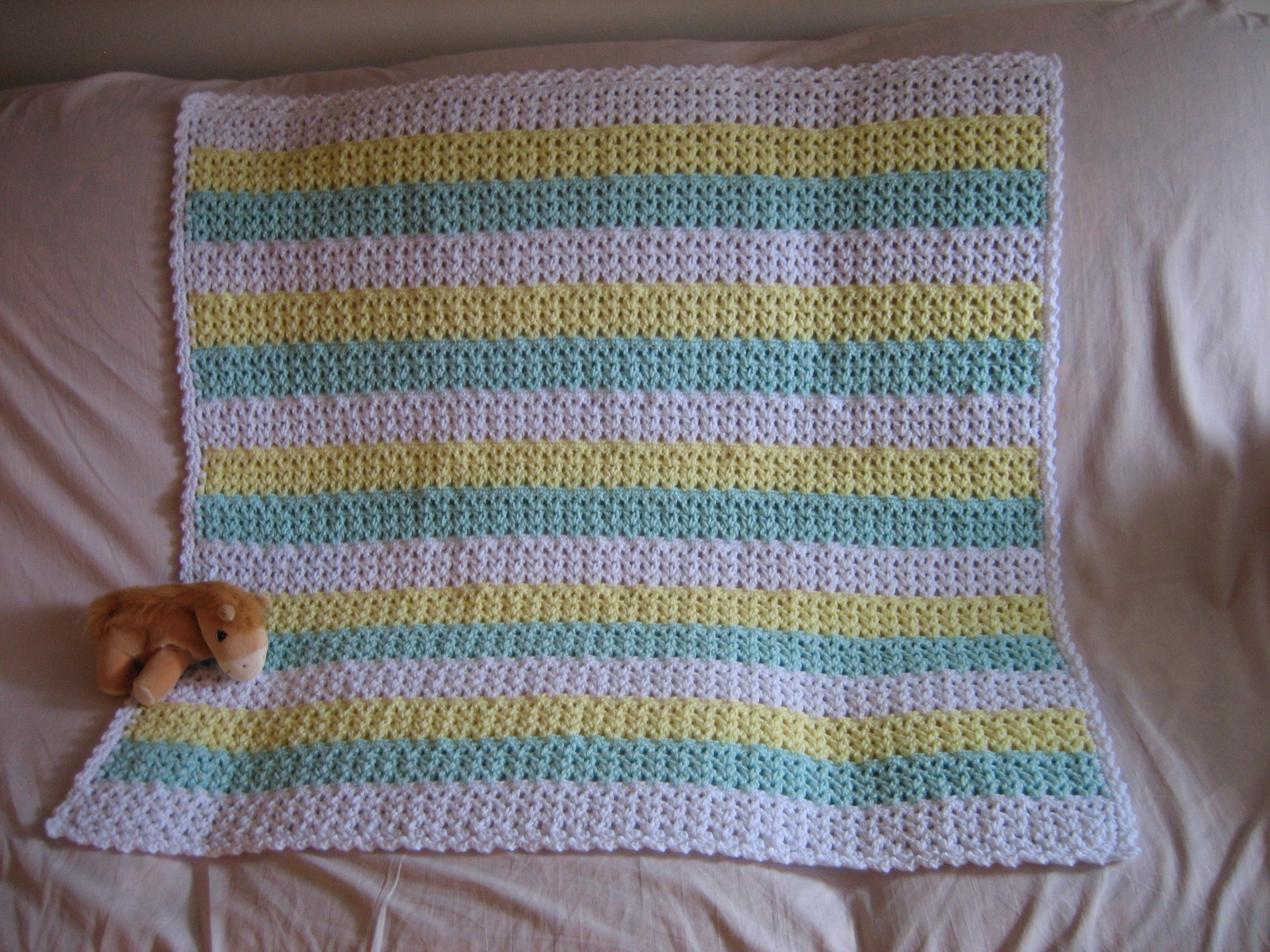 Striped Crochet Afghan | FaveCrafts.com