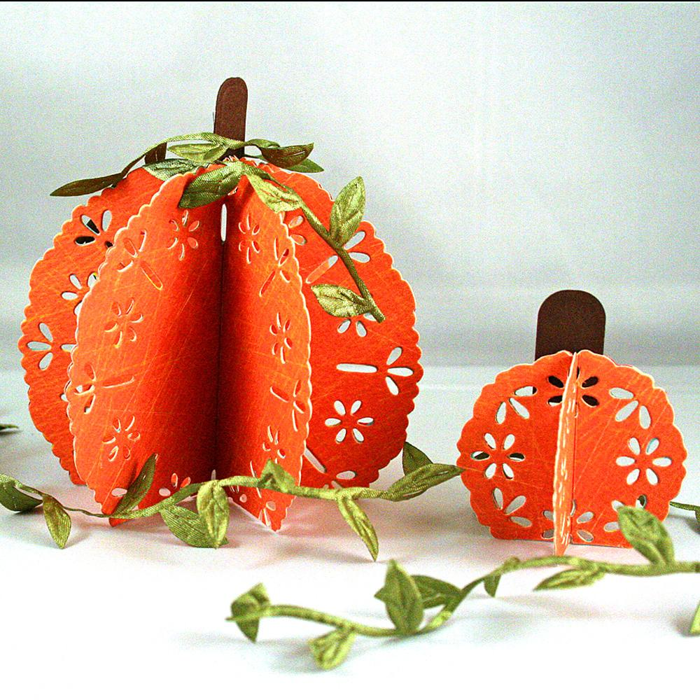 eyelet pumpkins - Decorative Crafts