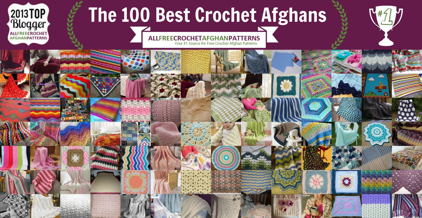 The 100 Best Crochet Afghans Ever: Crochet Baby Blankets, Ripple ...