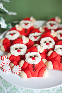 Festive Roly Poly Santa Cookies