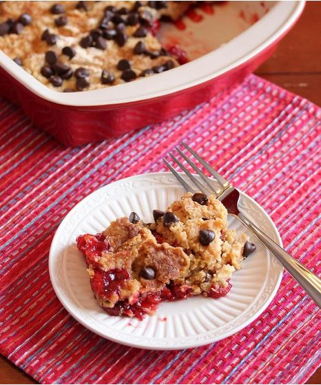 Four-Ingredient Chocolate Cherry Cobbler