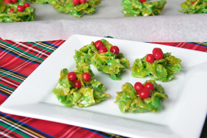 Holiday Holly Cookies