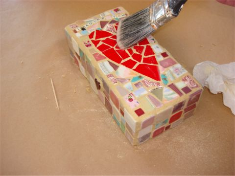 How to Grout Mosaic 10