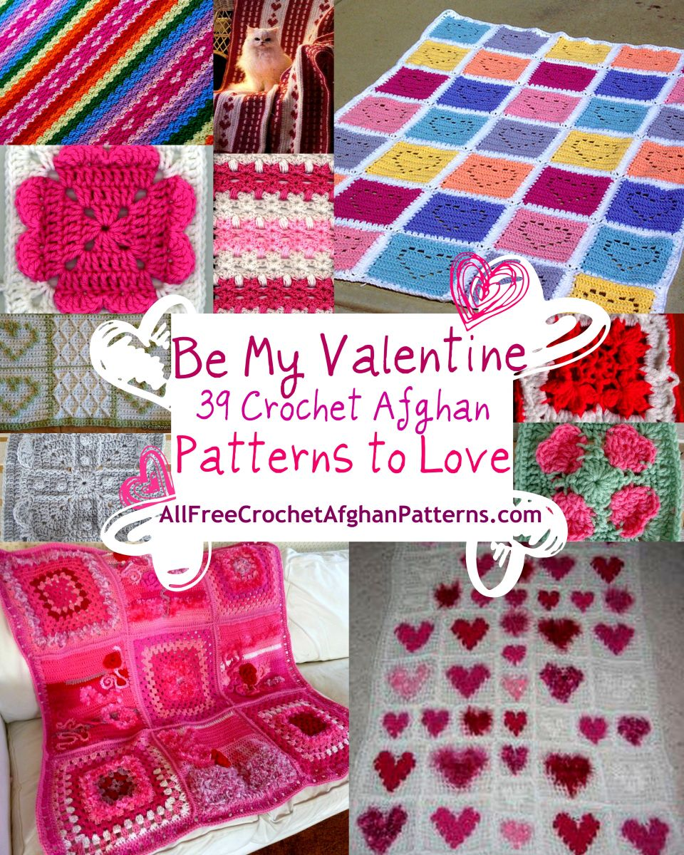 18 Red Crochet Afghan Patterns | AllFreeCrochetAfghanPatterns.com