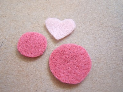 Felt Hearts and Circles