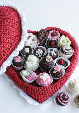 Valentine Chocolates Free Crochet Pattern Favecrafts Com