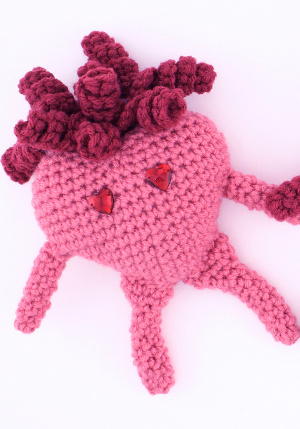 CROCHET PATTERN: 3D or PUFFY CROCHET HEART | Patrones Valhalla ENG ... | 429x300