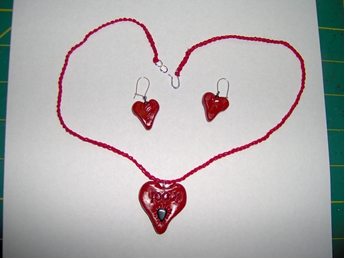 Sweetheart Necklace and Earrings