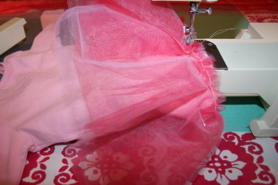 Stitching Tulle to Shirt