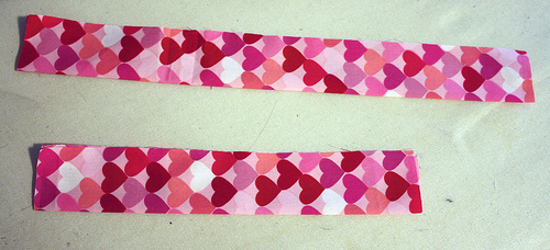 Ironing Fabric Strips