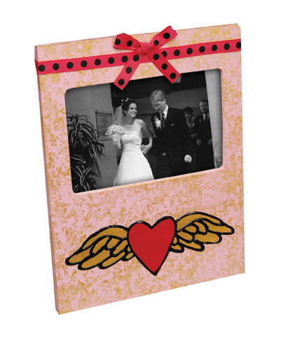 Flying Heart Valentine's Day Frame