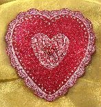 Glitter Heart Lace Box