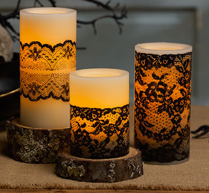 Victorian Lace Candles