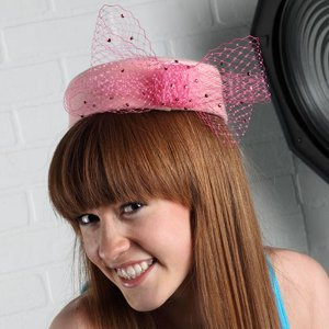 Pretty in Pink Pillbox Hat