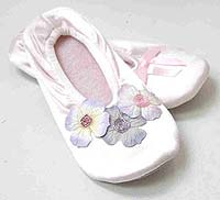 Silk Flower Ballet Slippers