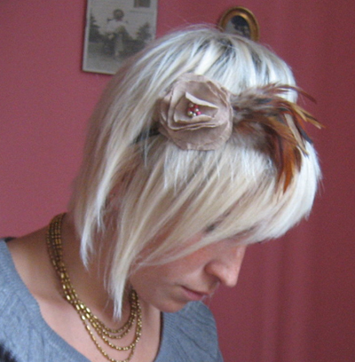 Flower and Feather Headband