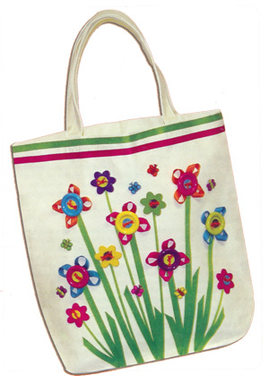 Hand Crafted Beach Bags Button Garden Tote