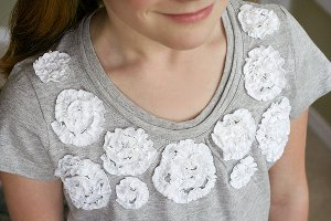 ruffled rose tee