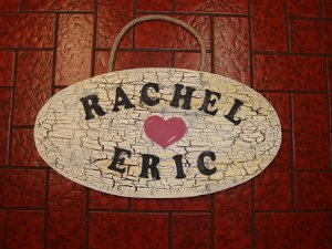 Antique Personalized Wedding Sign